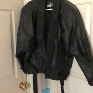 Genuine leather black jacket